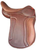 S saddle with long kneeblocks, brown